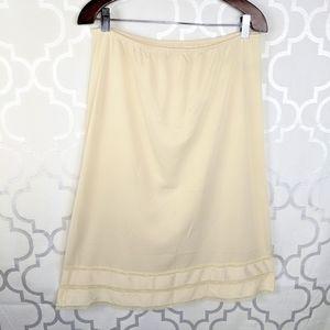 Vtg JCPenny Adonna Nylon Cream Skirt Slip